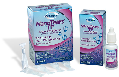 NanoTears® TF Clear Emollient Lubricant Gel Drops is a unique innovation in Dry Eye Therapy.